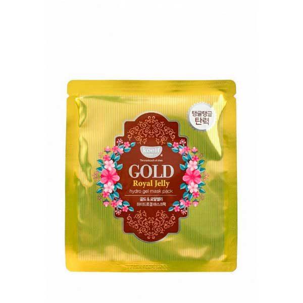 Маска для лица гидрогелевая с золотом и маточным молочком GOLD & ROYAL JELLY MASK, KOELF