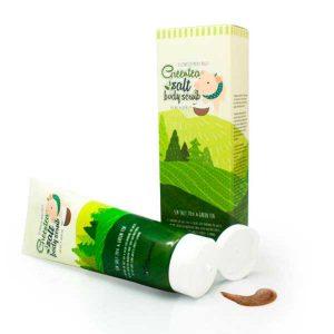 Скраб для тела с морской солью ЗЕЛЕНЫЙ ЧАЙ Greentea Salt Body Scrub, 300 гр, Elizavecca