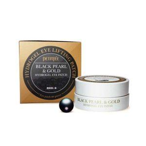 Гидрогелевые патчи для век с черным жемчугом и золотом Black Pearl&Gold Hydrogel Eye Patch (Petitfee)
