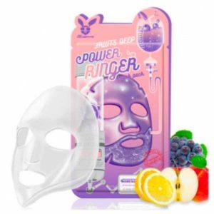 Тканевая маска для лица Фруктовая FRUITS DEEP POWER Ringer mask pack, Elizavecca